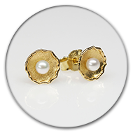 Earrings with pearls in 18k gold